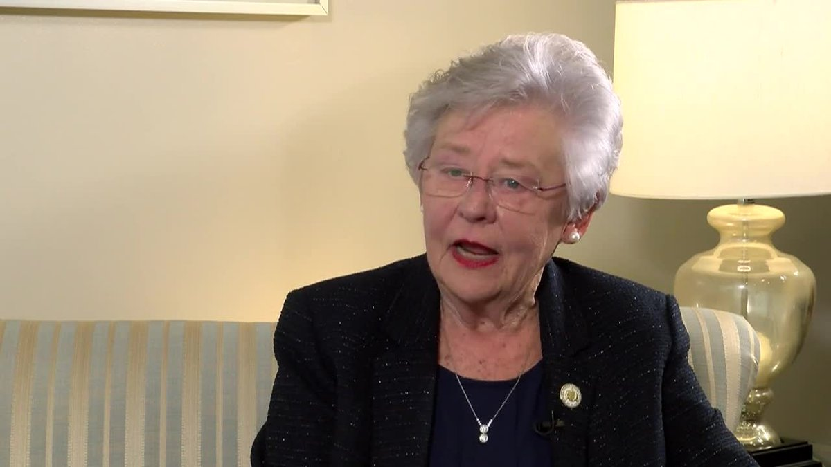 Alabama Gov. Kay Ivey is urging college football fans to get vaccinated before heading to...