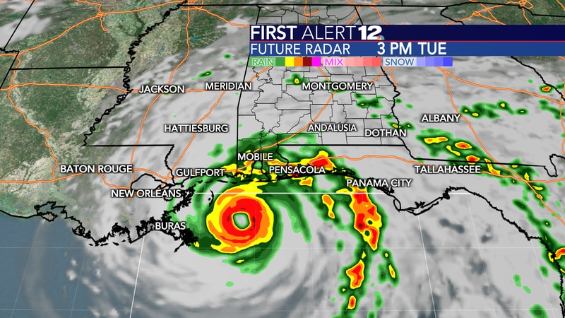 Sally will become a well-organized hurricane as it makes landfall in southeastern Louisiana...